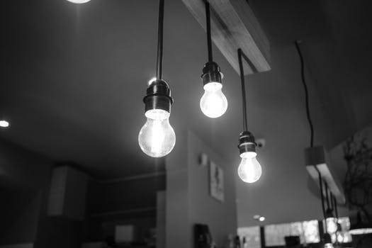 bare bulb lights