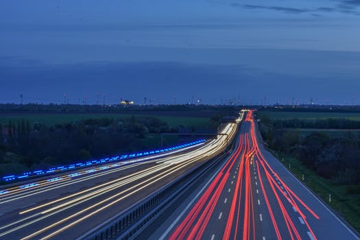 time lapse of interstate